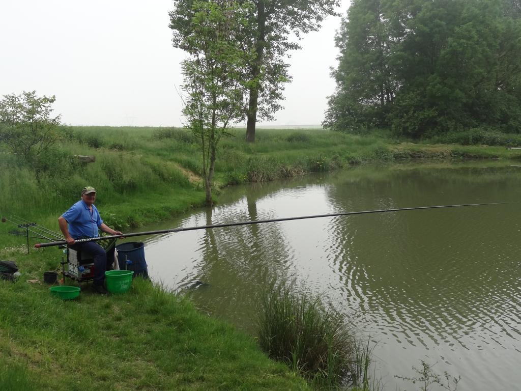 François en action de pêche