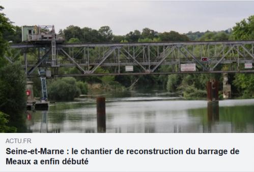 Actu.fr chantier barrage