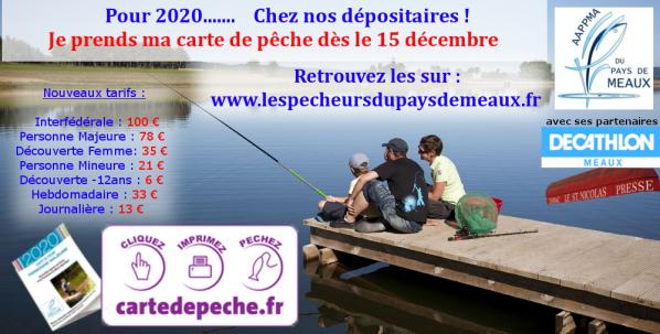 Affiche cartes de pêche 2020