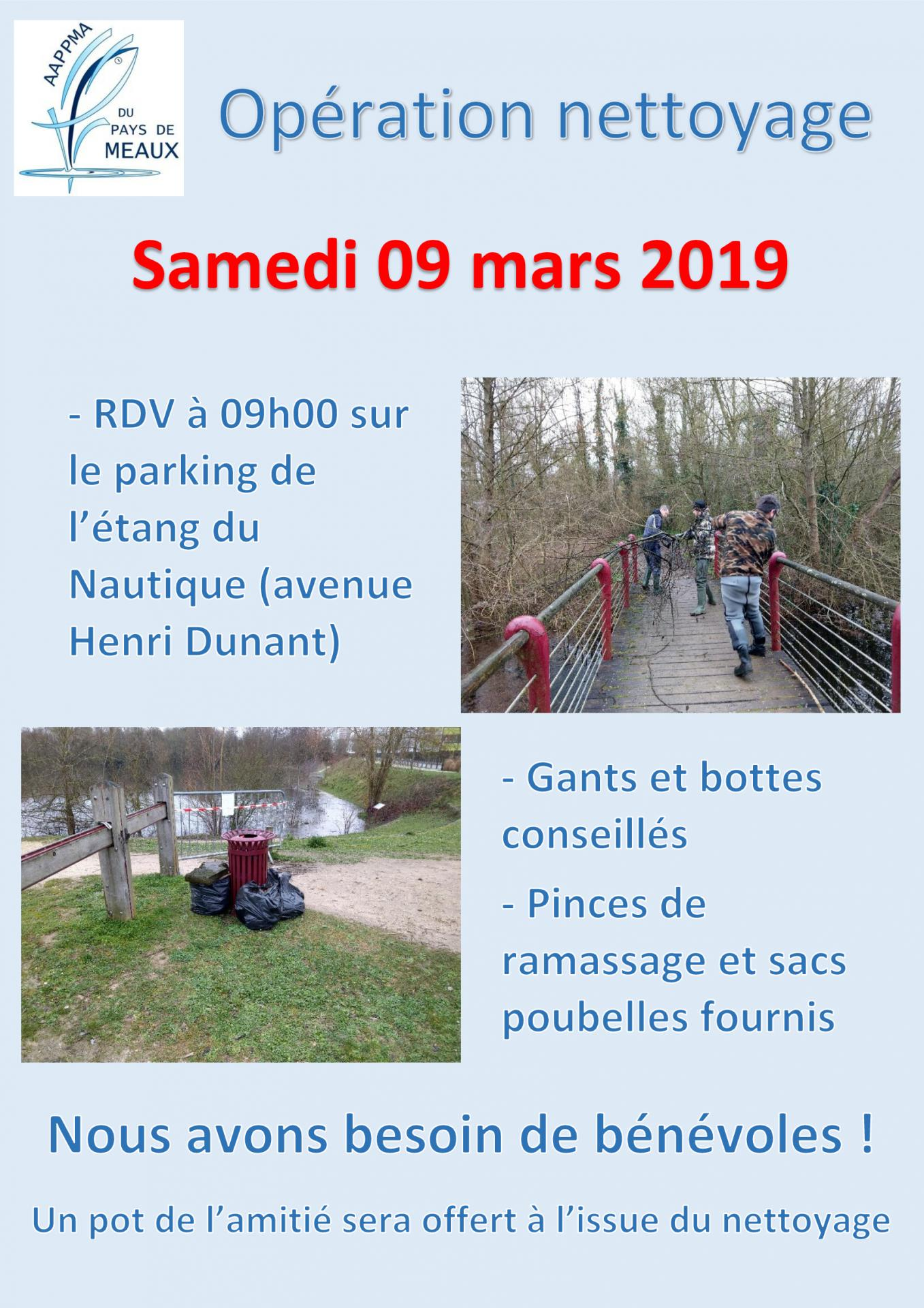 Affiche nettoyage 09 mars 2019