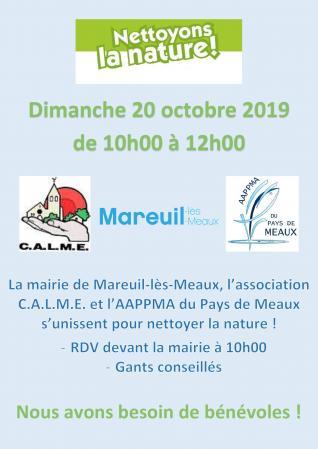 Affiche nettoyage Mareuil-lès-Meaux